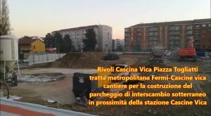 Rivoli: a Cascine Vica avanza il cantiere per la metropolitana